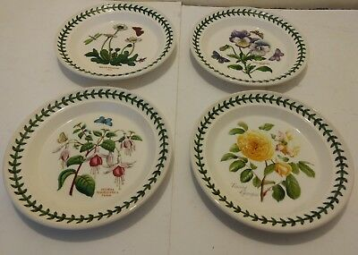 4 Portmeirion Botanic Garden Bread and Butter Plates 7 1/4""