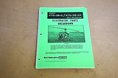 Original Bell 47 Helicopter Parts Catalog