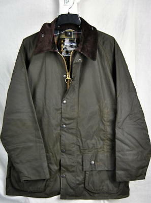Barbour CLASSIC BEAUFORT Barn Jacket Waxed Cotton AUTHENTIC Olive Mens 48 New