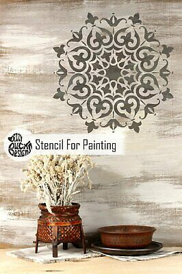 SHIMLA Mandala Indian Circular Stencil - Furniture Wall Floor Stencil for Paint