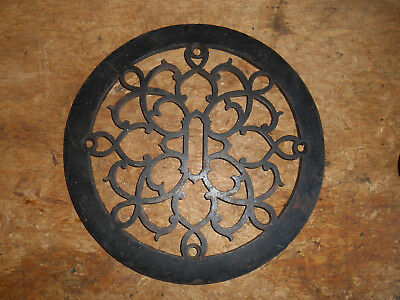 Ornate Antique Cast Iron Round Heating Grate Register Cover Architectural Salvag