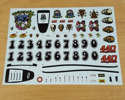 Amt 1/25 1971 Dodge Charger R/t Decal Sheet. Dirty Donny