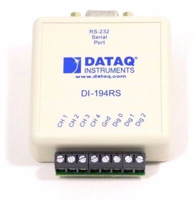 DATAQ Instruments DI-194RS 4 Channel Serial Port Data Acquisition Module RS-232