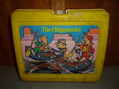 Vintage Thermos The Chipmunks Plastic Lunch Box