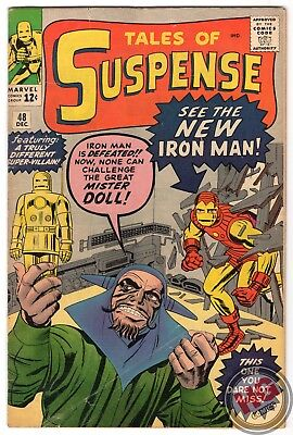 Tales of Suspense #48 12/63 Silver Age Marvel Comics 1st App IRON MAN MkII Armor