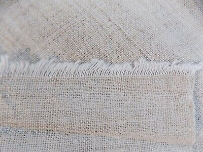 Antique homespum Flax&Cotton Fabric 9,5x0,5m 1930s Light Cream Great condition