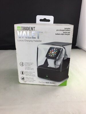 Trident  Valet Portable Luxury Charging Pedestal For Apple Watch 38mm 42mm (110)
