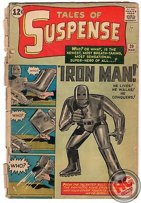 Tales of Suspense #39 3/63 Silver Age Marvel Comics 1st App IRON MAN TONY STARK