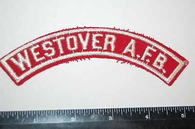 Boy Scout  WESTOVER A.F.B.  Red & White Military Strip