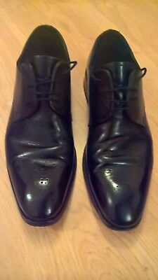 Russell & Bromley Men's Shoes - Black Leather, UK 8, EU 42, Used
