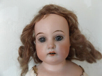 Antique German Bisque Columbia Bergmann and Marseille Turned Head Doll Kid 15""