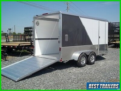 2018 Aluma AE714TAM cargo enclosed aluminum trailer 7x14 motorcycle w extra high