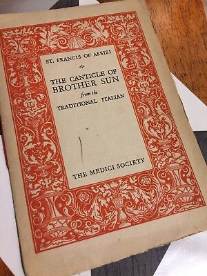 francis of assisi canticle of brother sun the medici society vintage rh picclick co uk Organization Guide Blip Scale User's Guide