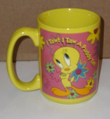 "Looney Tunes -Tweety Bird- Coffee Mug/Cup "" I Tawt I Taw A Puddy Tat"" Warner Bro"