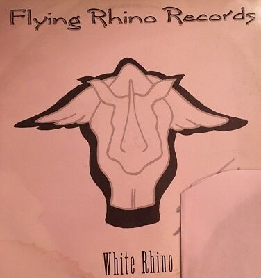 "Flying Rhino Records - White Rhino 12"" vinyl LP"