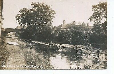 Real photo postcard of the Canal and bridge at Retford Derbyshire in vgc