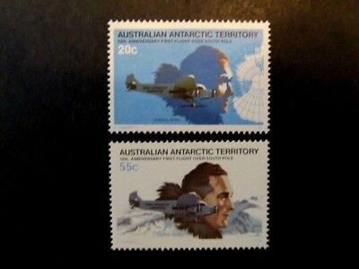AUSTRALIAN ANTARCTIC TERRITORIES, SC# 35-36, 1st FLIGHT ANNIV. SET (1979) MNH