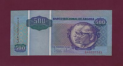 Portugal  Angola 500 kwanzas 1991 P-127 UNC extremely  RARE