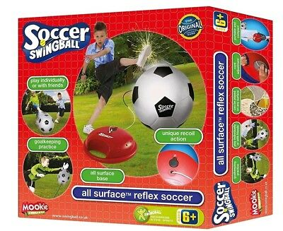 Mookie Reflex Soccer Kids Football Trainer Practice Swing Ball Play Set