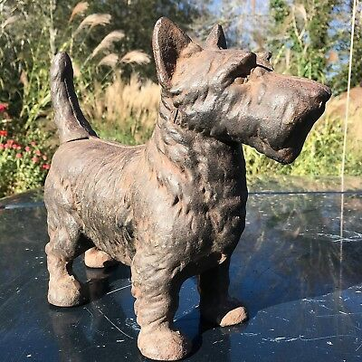 Antique Original Cast Iron Scotty Dog Doorstop