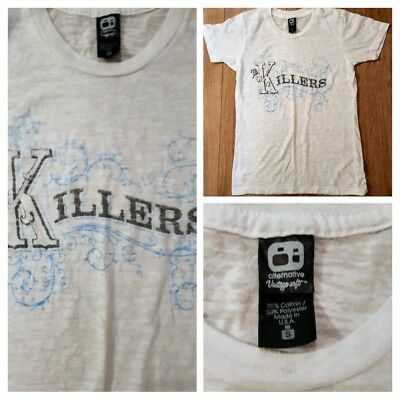 The Killers Women's White Band T-shirt small made in USA 🇺🇸