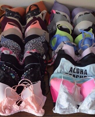Victoria Secret Bra Lot Wholesale Designer PINK Various Sizes Styles 31 Piece