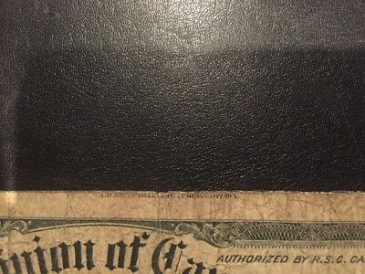 1900 DOMINION OF CANADA   American bank note top print- Bottom Mis-cut