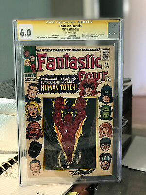 Fantastic Four #54 CGC 6.5 1966 Signed STAN LEE auto free shipping!