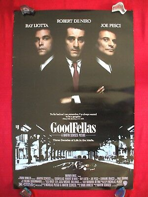 Goodfellas * 1990 Original Movie Poster 1Sh Martin Scorsese Rolled Double Sided