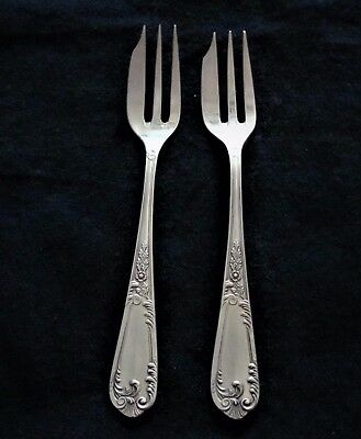 2 Authentic Cake Forks in Continental Sterling Silver