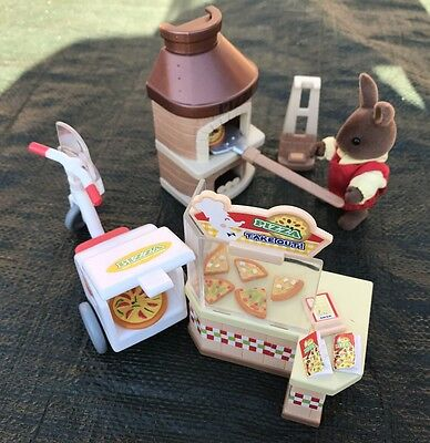 Sylvanian Families Pizza Parlour set - Pizza takeaway accessories Calico Critter