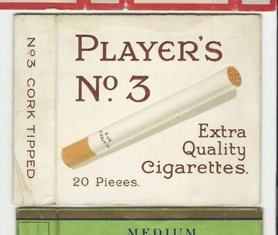 Players No.3 cigarette packet
