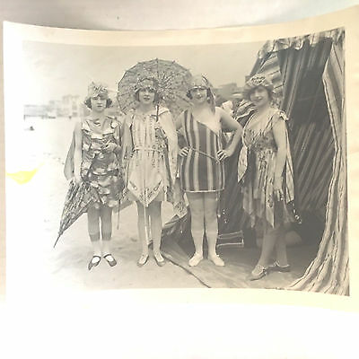 """Vintage 1922 """"The Impossible Mrs. Bellew"""" Bathing Costumes Deauville Scene Photo"""