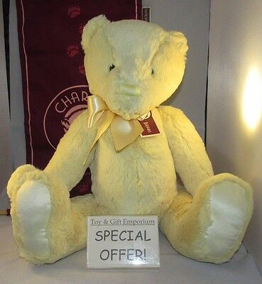 UNDER HALF PRICE! Charlie Bears First Bear LARGE CUSTARD YELLOW (Brand New!)