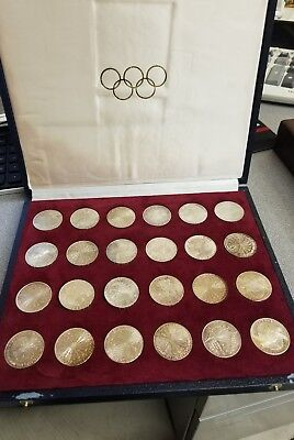 1972 Munich Olympic Complete 24 Coin Set with Original Box