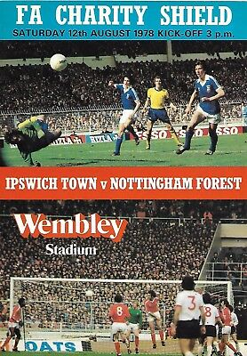 IPSWICH TOWN v NOTTINGHAM FOREST 12th AUGUST 1978 (VERY GOOD CONDITION).