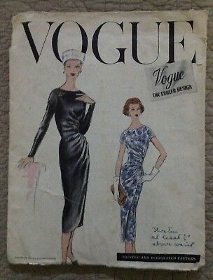 Vintage 1956 Vogue Couturier No. 938 Sewing Pattern - Size 32