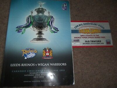 2011 Rugby League Challenge Cup Final Leeds Rhinos V Wigan Warriors @ Wembley