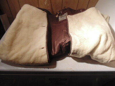 Rare Ww2 Canadian Aircraft Flying Suit Liner,satin&fleece Large Size,1943