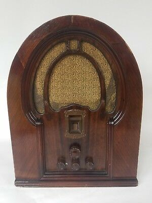 Antique Vintage Philco Tombstone Cathedral Table Top Tube Radio