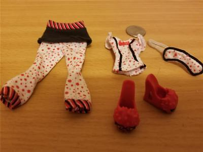 Monster High Dead Tired First 1st Wave Ghoulia Yelps Pajamas,Slippers&Mask  #130