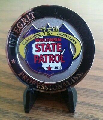Wisconsin State Patrol 75Th Anniversary Police Sheriff Wi Challenge Coin!