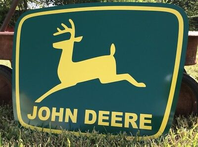 Antique Vintage Old Style John Deere Sign