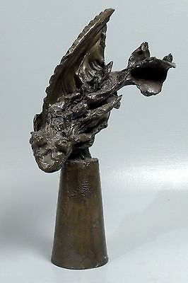 Large Modernist Brutalist Bronze Fish Sculpture by Irwin Touster - Harvard C. BR