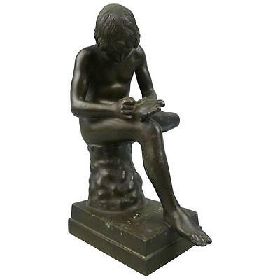 Grand Tour Bronze Sculpture of Spinario the Thorn Picker - BR