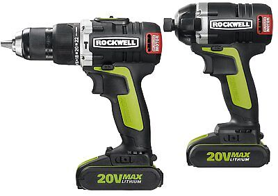 Rockwell 2-Piece 20V Brushless Hammer Drill and Impact Driver Combo Kit RK1808K2