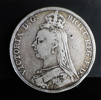 1890 Queen Victoria Crown F
