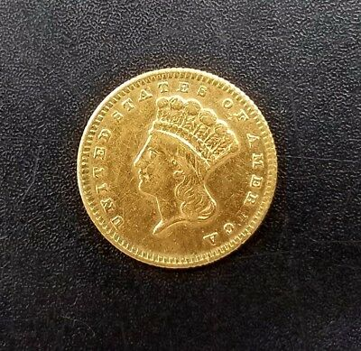 18?? $1.00 (One Dollar) Liberty Head gold piece!. NO RESERVE!