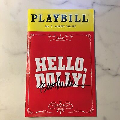 Hello Dolly Broadway Playbill Signed By Bette Midler