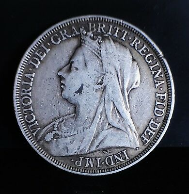 1896 LX Queen Victoria Crown F